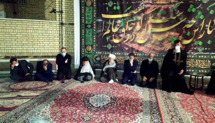 عزاداری محرم در روستای جعفرآباد قم در فضای باز مسجد