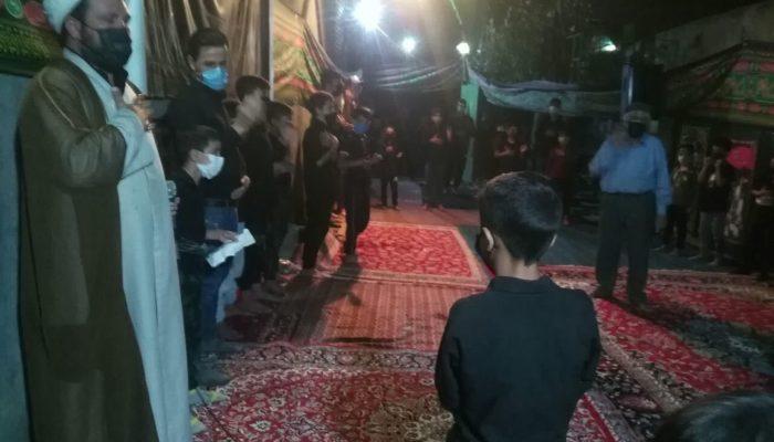 عزاداری محرم در پایگاه فرهنگی کال و زرکش مشهد در فضای باز