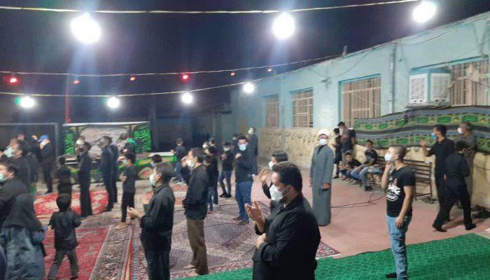 مراسم عزاداری محرم در فضای باز حاشیه شهر مشهد