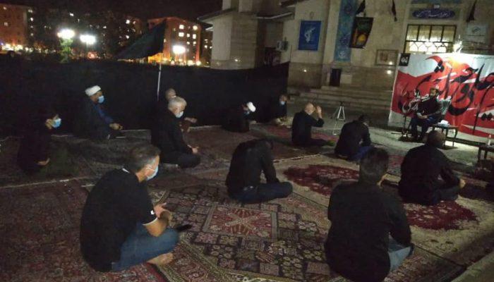 عزاداری محرم در شهرک مهر رشت در فضای باز